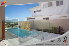 "OEM Frameless Glass Pool Fence -Grade ""A"" certificate"