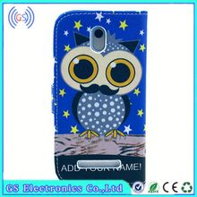 China Wholesale customized design OEM/ODM Pu Leather Case for galaxy gio