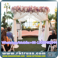 RK wedding stage decoration with flowers/indian wedding party mandap decorations design/wedding chuppah for muslim sale