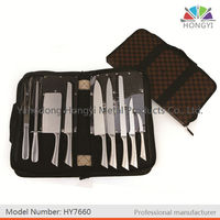 In coth bag 9 pcs Chef kitchen knife set
