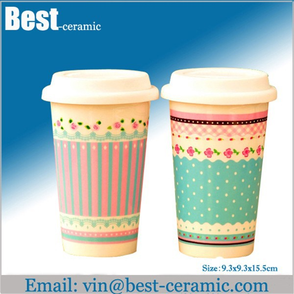 Двойной стенкой starbucks керамическая кружка кофе без ручки.