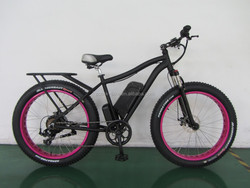 Lithium battery fat tire electric Mountain bike