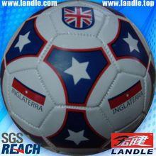 Machine Stitched Leather 32 panels soccer ball 2012