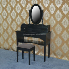 Black wooden dresser /modern dressing table With Mirror /Makeup table with mirror and stool