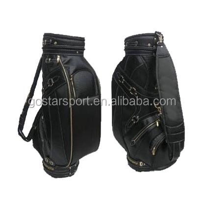 Hot Sale Black Unique Top Quality PU Leather Golf Bag