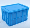 HDPE solid OEM plastic turnover box fruits&vegetable container with lid