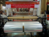 double layer casting lldpe stretch film machine cling film making machine