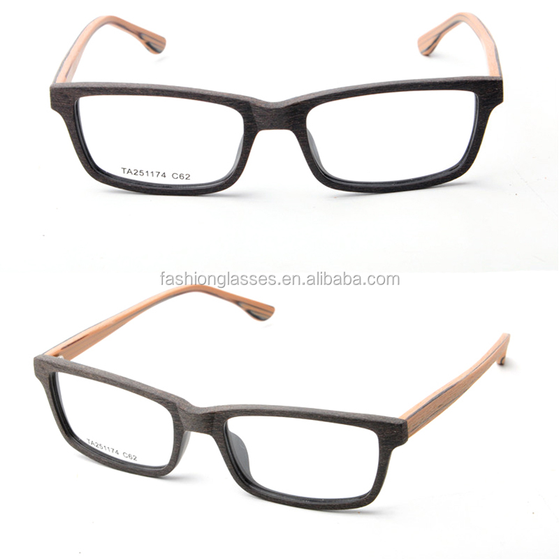 European Eyeglass Frame Manufacturers : High Quality Cheap European Branded Acetate Fade Wood ...