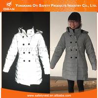 Factory direct high quality cheap excellent fluorescent women's coat