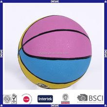 2015 hot sale children custom rubber basketball