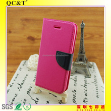 Hot sell wholesale leather filp cellphone case compatible for iphone 5C
