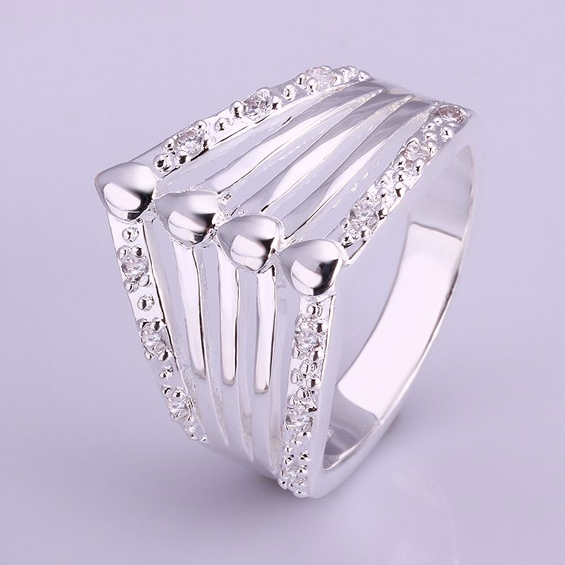 משלוח חינם 925 תכשיטי כסף סטרלינג הטבעת בסדר אופנה קטנה נטו אריגה טבעת באיכות גבוהה הסיטוניים וקמעוני SMTR023