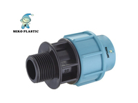 pp compression fittings male adaptor pp/pe fittings for pipes plastic fittings made in pp irrigation supplier