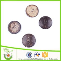 54L natural brown color round shape high quality coconut shell button for DIY craft paper punch