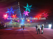 New Brand Colorful Inflatable LED Lighting Star Outdoor Decoration