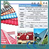 Plastic metal spanish tile roofing types of roof tiles for wholesales