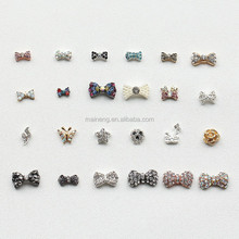 common nail decoration bow tie for 3d metal nail decoration
