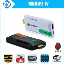 mk809iv quad core tv box + 2.4gb wireless keyboards 1080p hd streaming iptv set top box