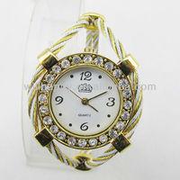 Latest fashion gold elegent lady bangle watch(SW-579)