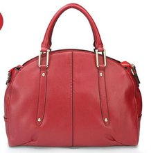 2012 new fashion! Genuine leather brands handbags for women in 3 colors