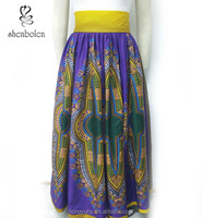 M40792 Factory price High-Waisted lined Maxi Skirt Handmade Clothing. African dashiki Print Skirt Wholesale