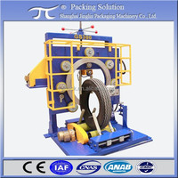 PCR tire wrapping machine GS300; Bus tire stretch wrapping machine; OTR tyre packing machine GS300