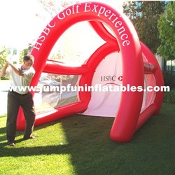 2015 popular inflatable golf range/Inflatable golf goal for practice court