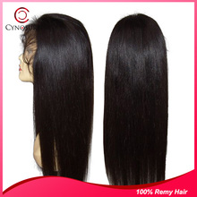 Beauty style Chinese virgin human hair full lace wig,accept paypal payment