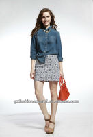 Fashion young girls in short skirt hot sale