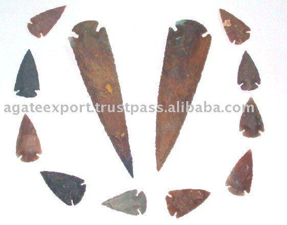 Bronze flèche : tir pointes de flèches : agate pointes de flèches