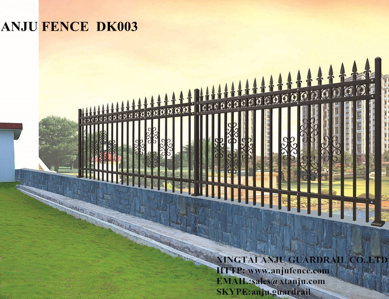 Powder Coating Decorative Modular Metal Garden Fence Panels
