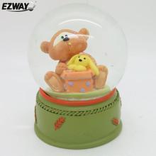 Teddy bear wedding favors snow globe