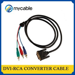 Hottest high quality dvi-rca converter cable dvi fiber optic extender