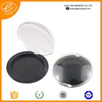 148C round transparent lid compact powder container injection compact powder case