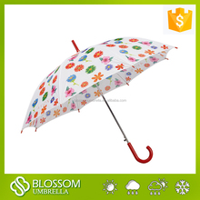 2015 Promotional big straight umbrella,polka dot ladies umbrella