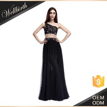 Wholesale charming beaded leg open ladies long evening party wear gown WB1215