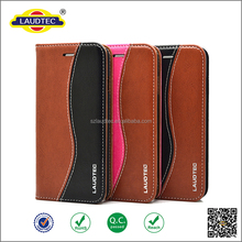 Genuine leather flip case for iphone 6plus /6s plus ,customized logo wallet case