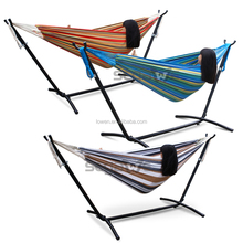 Double Hammock with Space-Saving Steel Stand Summer Outdoor Relax Bag Include