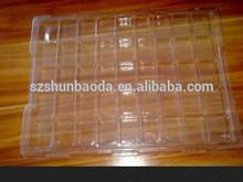 明確な電子トレイカスタムプラスチック包装トレイ使い捨てトレイ