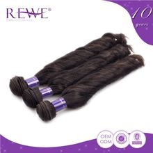 Custom Shape Printed Silk Smooth Tangle Free Jazz Wave Remy Hair Products Distribution