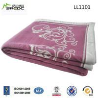 SREDC super soft king size custom jacquard 100% wool double bed dubai blanket