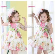 Salida de fábrica de ropa para niños/ropa al por mayor en londres vestido de la muchacha