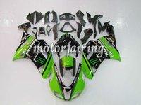 2007 2008 ZX6R motorcycle fairing/motorcycle fairing body kit/Kawasaki ZX-6R 07-08 fairing kits Black/Green