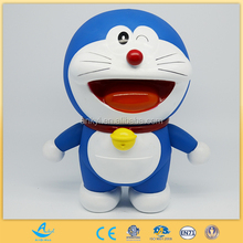 blue lucky doll baby toy plastic cat toy for christmas gift
