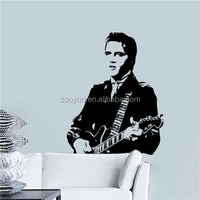 ZOOYOO vinyl christmas stickers famous modern portraits portrait famous abstract painting in memory of the King (Elvis16)