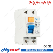 Electronic magnetic earth leakage / residual current circuit breaker 2P 63A 30mA RCCB
