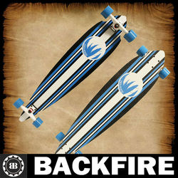 Backfire Longboard Complete BLUE AND WHITE FROST PINTAIL COMPLETE Professional Leading Manufacturer