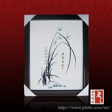 Chinese ink high quality ceramic painting pictures on walls