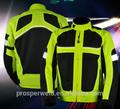 De alta visibilidad de calidad de la motocicleta de conducción reflectante de seguridad ropa chaqueta chaleco