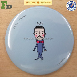 Single Side Personalized Pocket Mirror with Round Shape